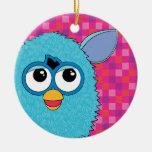 Teal Furby Ceramic Ornament