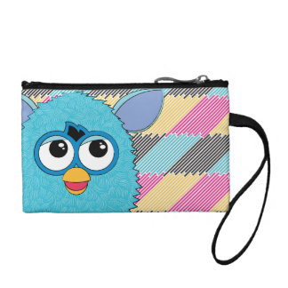 Teal Furby Change Purse