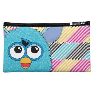 Teal Furby Cosmetic Bag