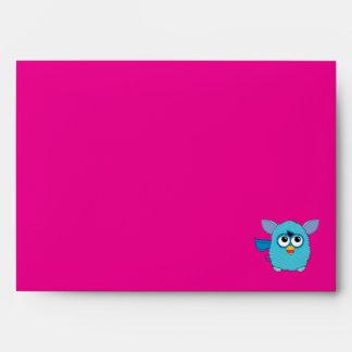 Teal Furby Envelope
