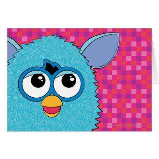 Teal Furby Greeting Card