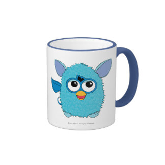 Teal Furby Ringer Coffee Mug