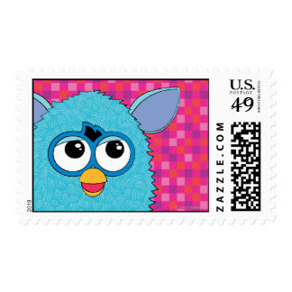 Teal Furby Postage Stamps
