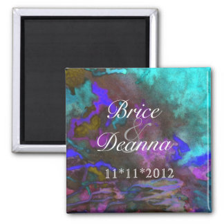 Teal Fusion 2 Save The Date Magnets
