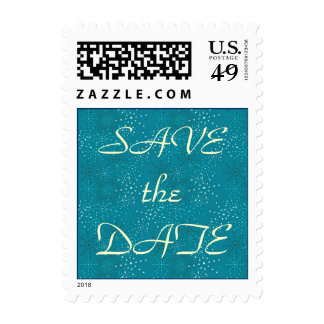 Teal Galaxy Save-The-Date stamps
