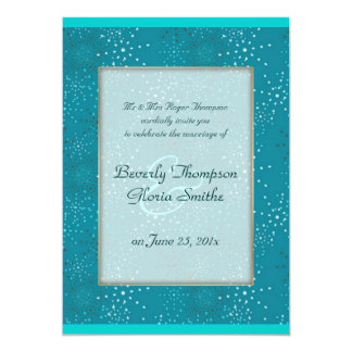 "Teal Galaxy WEDDING invitation 5"" X 7"" Invitation Card"