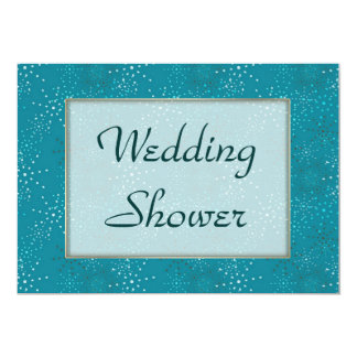 "Teal Galaxy WEDDING Shower invite 5"" X 7"" Invitation Card"