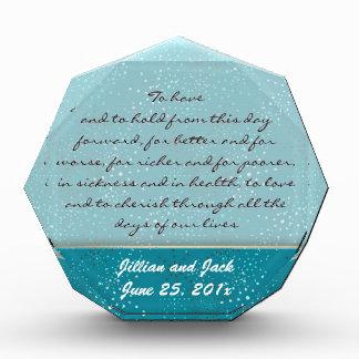 Teal Galaxy WEDDING Vows Display Award