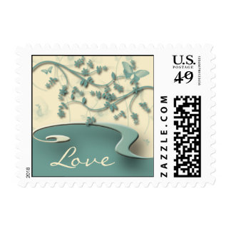 Teal Garden Stamps