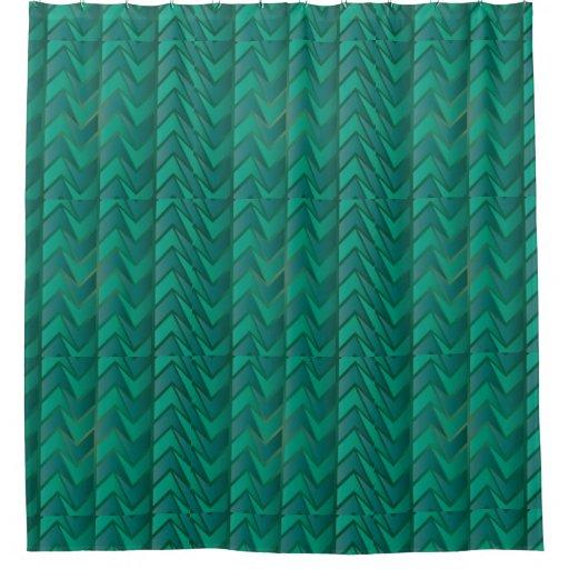 Teal Geometric Decorative Shower Curtain Zazzle