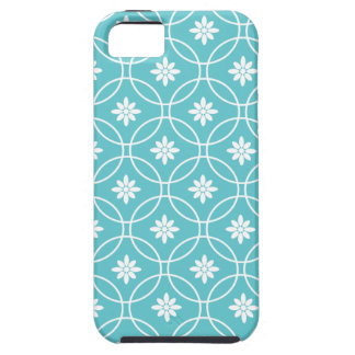 Teal Geometric Floral Pattern iPhone 5 Cover
