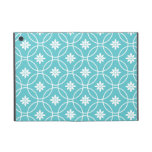 Teal Geometric Floral Pattern Covers For iPad Mini