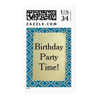 Teal Geometric Pattern Birthday