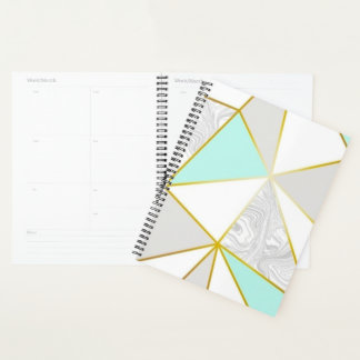 Teal Geometric Shapes Planner