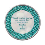 Teal Geometric Triangles Candy Tin at Zazzle