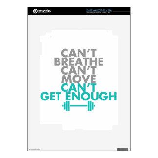 "Teal ""Get Enough"" iPad 2 Skins"
