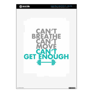 "Teal ""Get Enough"" iPad 3 Decals"
