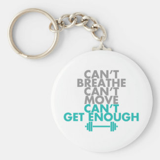 "Teal ""Get Enough"" Keychains"