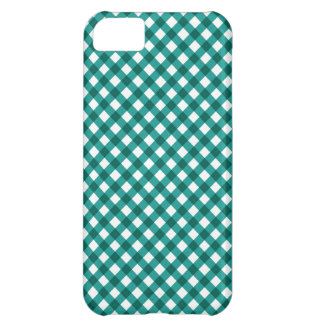 Teal Gingham Pattern iPhone Case iPhone 5C Covers
