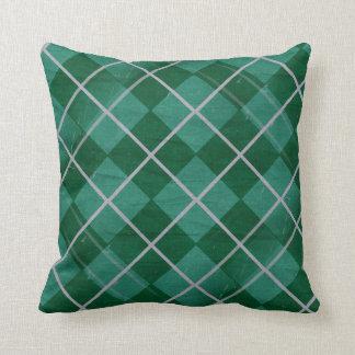 Teal Gingham Throw Pillow