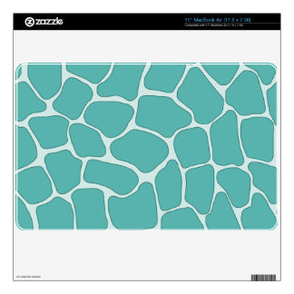 "Teal Giraffe Print 11"" MacBook Air Skin"