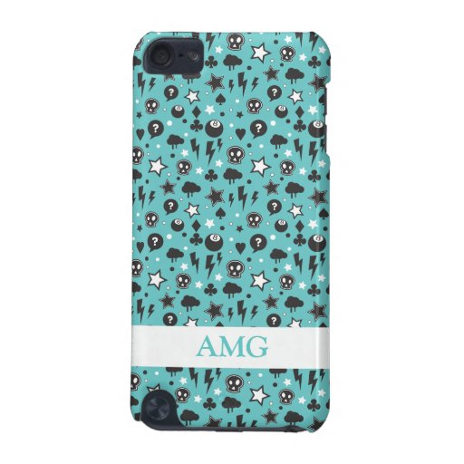 Teal Girly Punk Pattern iPod Touch (5th Generation) Cases