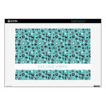 """Teal Girly Punk Pattern Decal For 15"""" Laptop"""