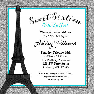 Paris Themed Invitations Zazzle