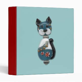 Teal Glass Bead Cat Binder