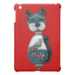 Teal Glass Bead Cat iPad Mini Cover