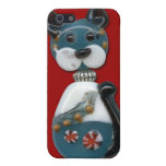 Teal Glass Bead Cat Case For iPhone SE/5/5s