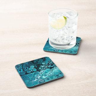 Teal Glass Coasters