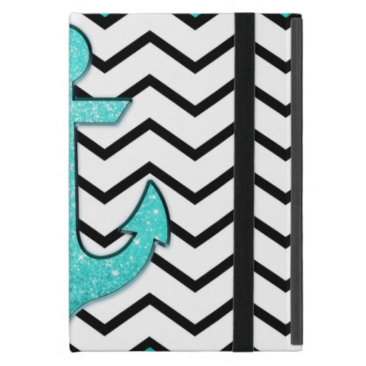 Girly floral nautical anchors on cute mint green ipad covers
