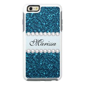 Teal Glitter Custom OtterBox iPhone 6/6s Case
