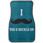 Teal glitter I Mustache You 2 Buckle Up Car Mats Car Mat