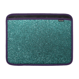 Teal glitter sleeve for MacBook air