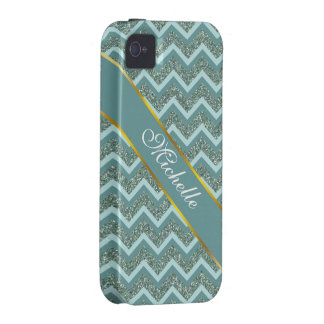 Teal Glitter iPhone 4/4S Covers