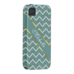 Teal Glitter iPhone 4 Cover