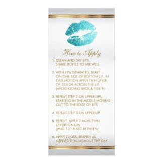 Teal Glitter Lipstick Instructions 2 Rack Card