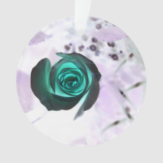 teal glowing rose neat flower image design