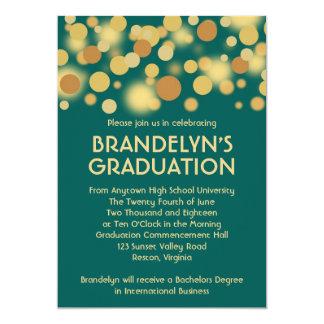 Teal Gold Celebration Graduation Announcement