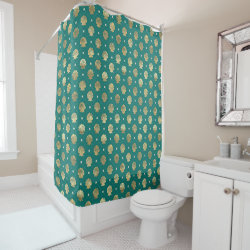 Shower Curtain with Funny Halloween Mickey Mouse as Stitch design