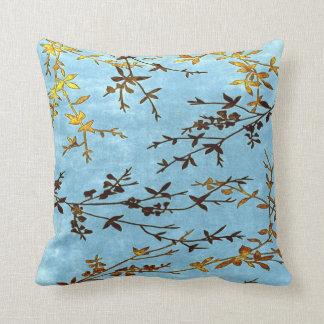 Teal Golden Brown Pillow