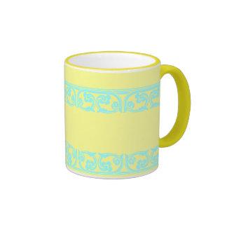 Teal Gothic Border Coffee Mug