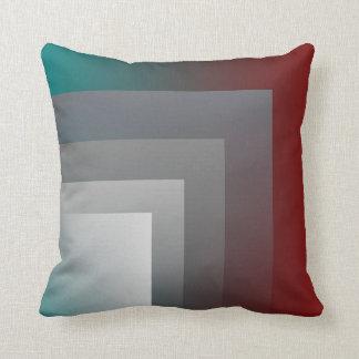 teal gray burgundy pillow