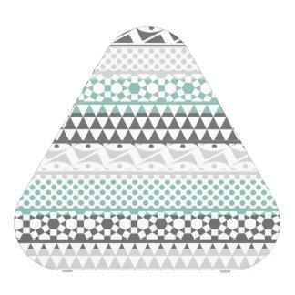Teal Gray Geometric Aztec Tribal Print Pattern Speaker