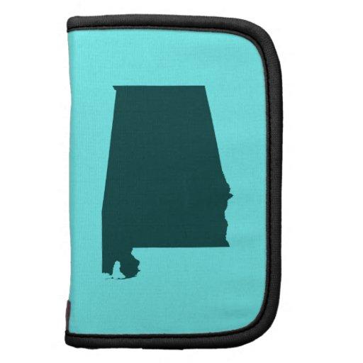 Teal Green Alabama Shape Folio Planners