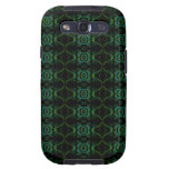 Teal, Green and black floral pattern. Galaxy S3 Covers
