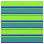 [ Thumbnail: Teal, Green, and Blue Pattern Fabric ]