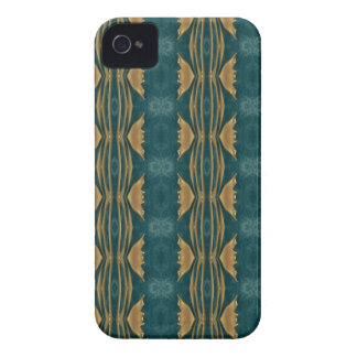 Teal green and gold Blackberry Case